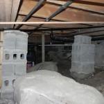 Blackstone Lake Cottage Renovation Existing Interior of Crawlspace