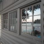 Blackstone Lake Cottage Renovation Existing Window Reflection