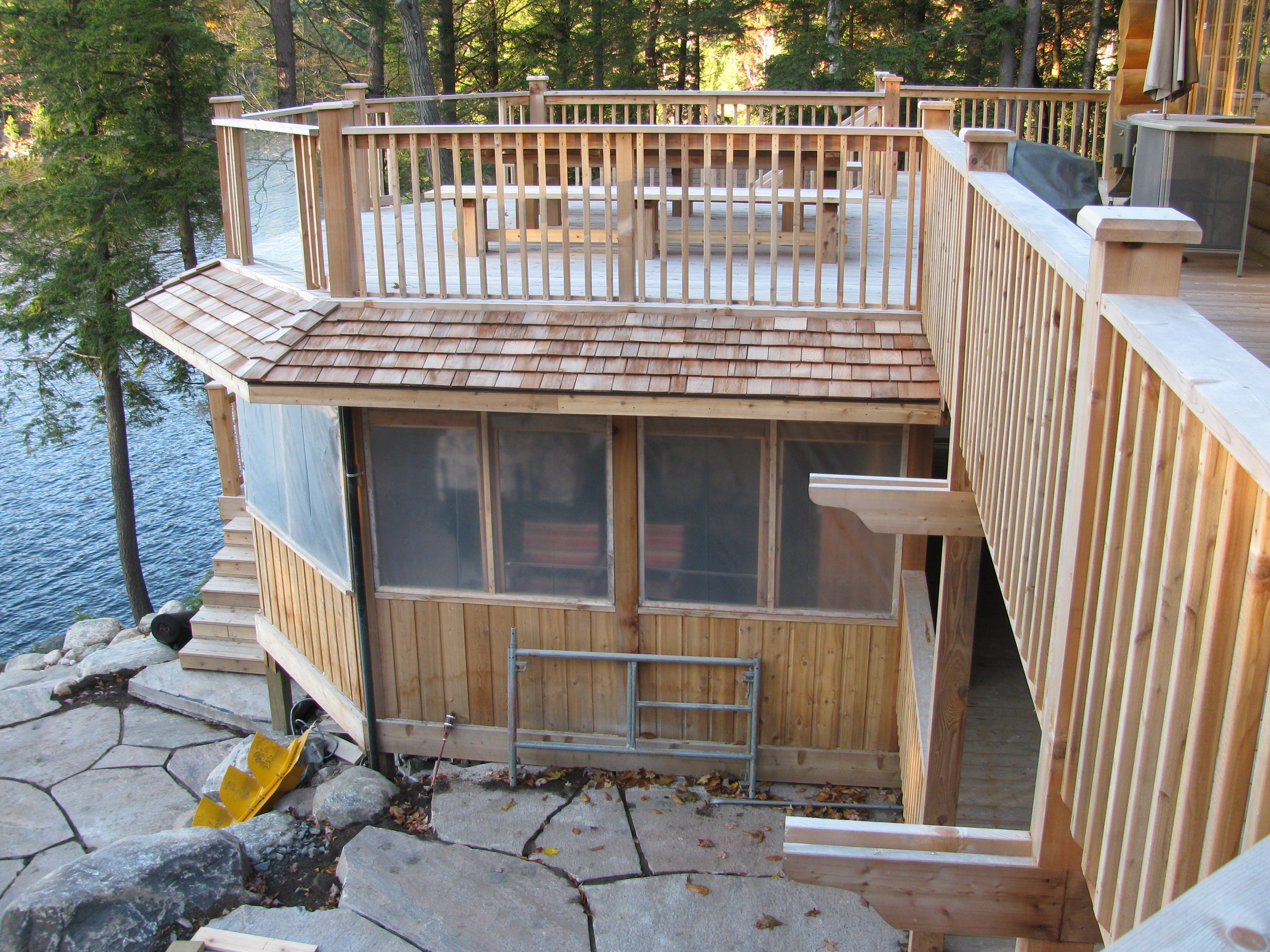 Architectural Deck Screening : Parry sound deck permit dwg screened porch with above
