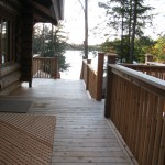 Parry Sound Deck Permit Dwg View from Upper Level Towards Lake