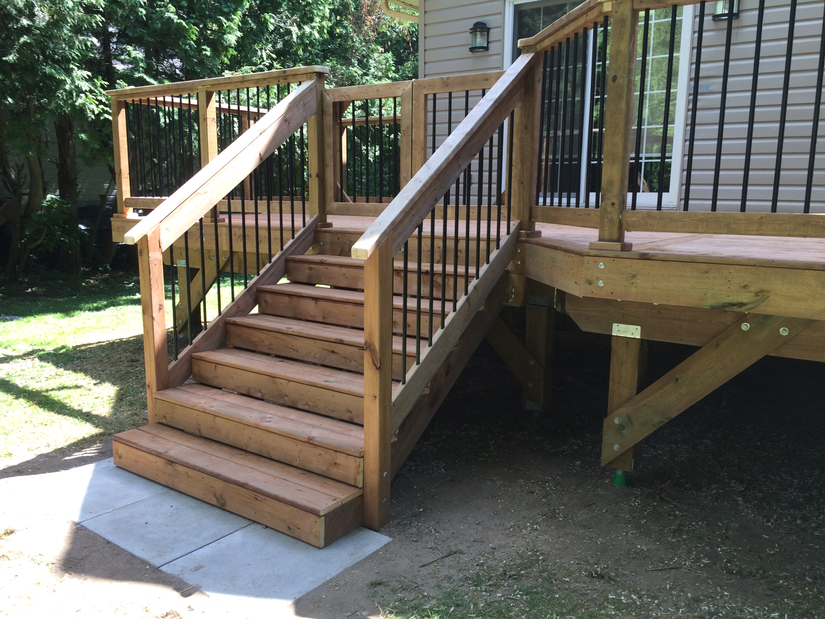 decking porch tub decks and pinterest composite steps patios pin hot stairs