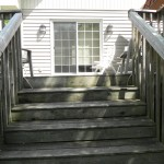 Innisfil Deck Rebuild - Before Construction Old Stairs Front View