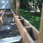 Innisfil Deck Rebuild - During Construction Framing Support for Border Decking