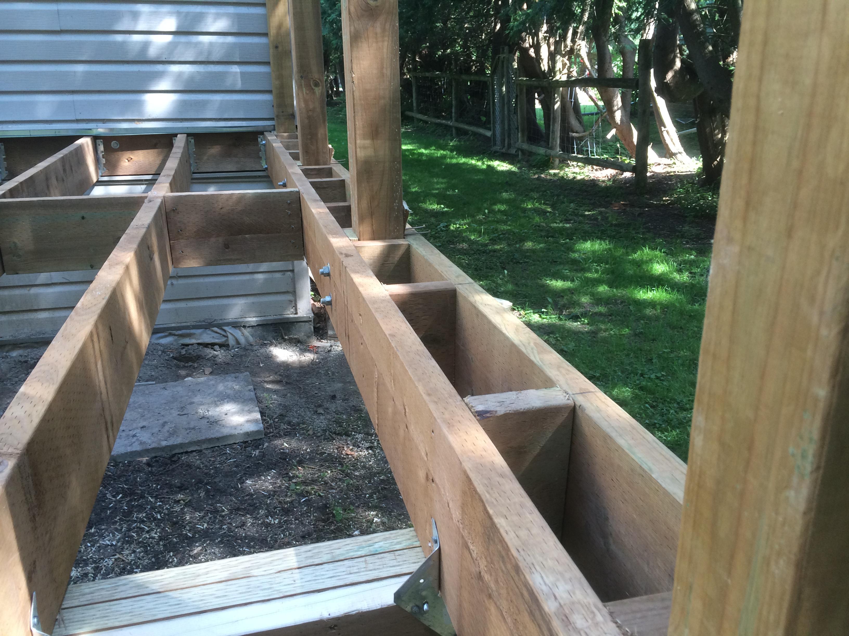 Picture Framing Deck Boards ~ Innisfil deck rebuild during construction framing