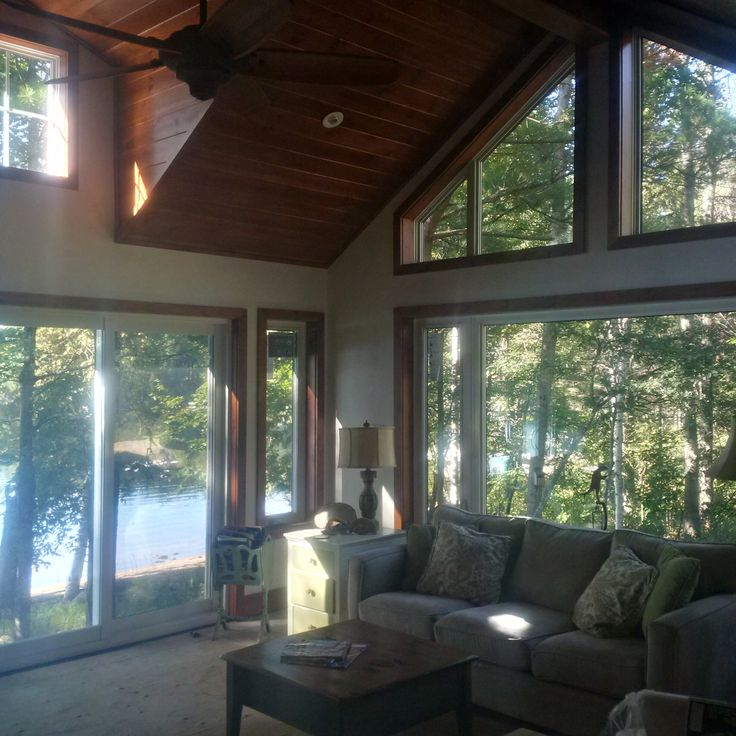 Lake of Bays Addtion - After Construction Interior Lakeside Corner