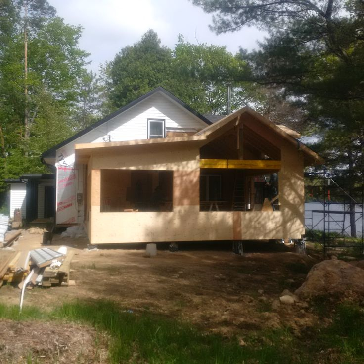 Lake of Bays Addtion - During Construction Side View