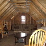 Partridge Bay Garage After Construction Unfinished Attic Interior