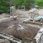 Partridge Bay Garage Before Construction Footings In