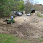 Partridge Bay Garage Before Construction Leveling Grade