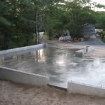 Partridge Bay Garage Before Construction Slab In