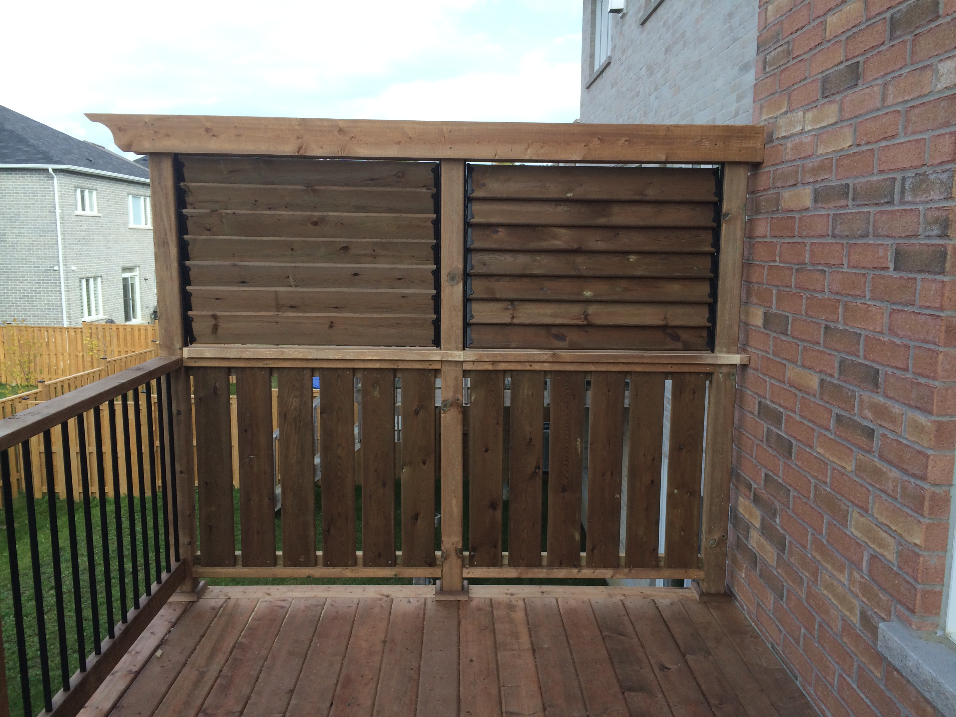 Design Deck Privacy Walls deck wall newmarket after construction privacy closed closed