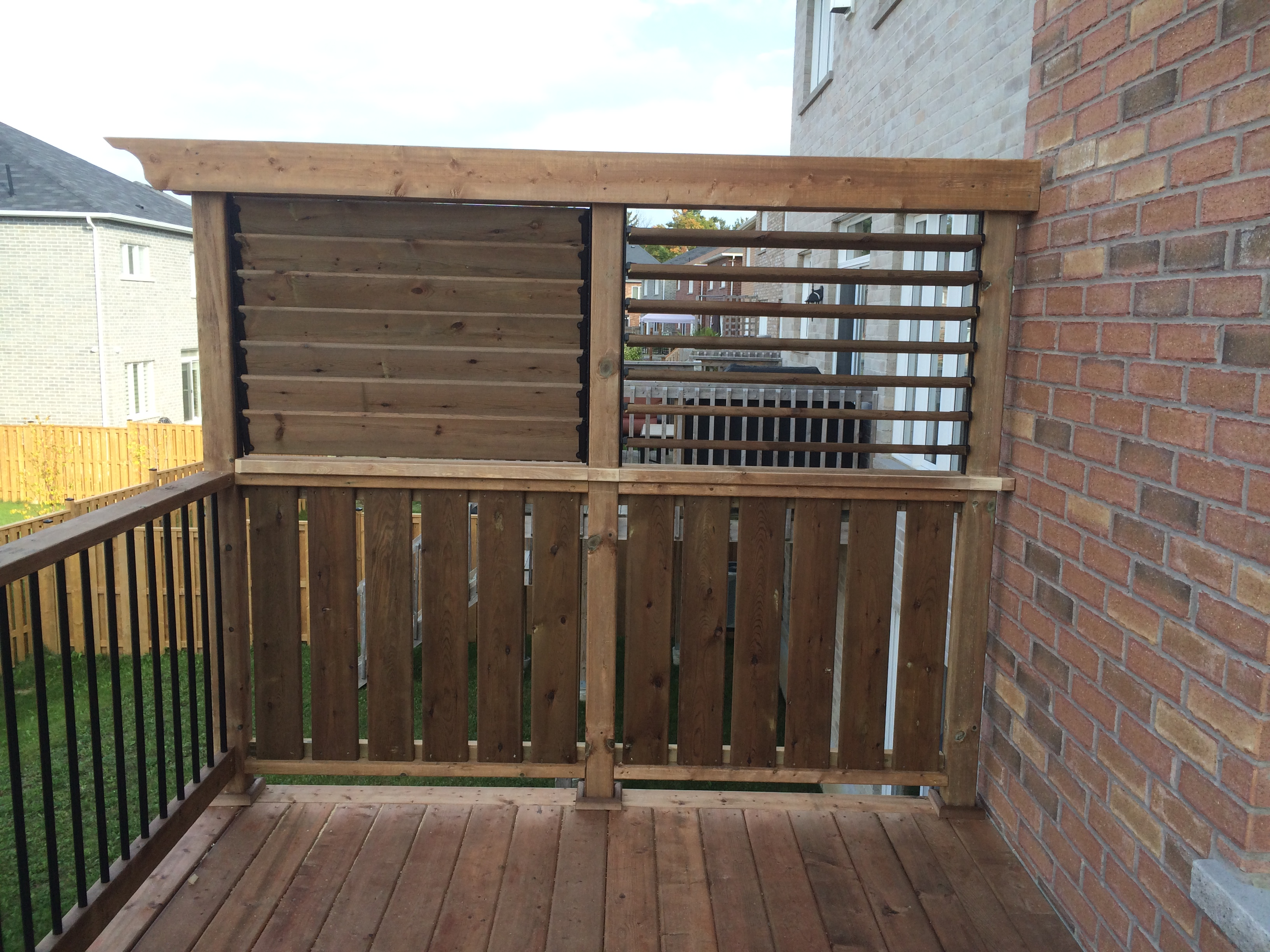 Newmarket Deck After Construction Privacy Wall Open