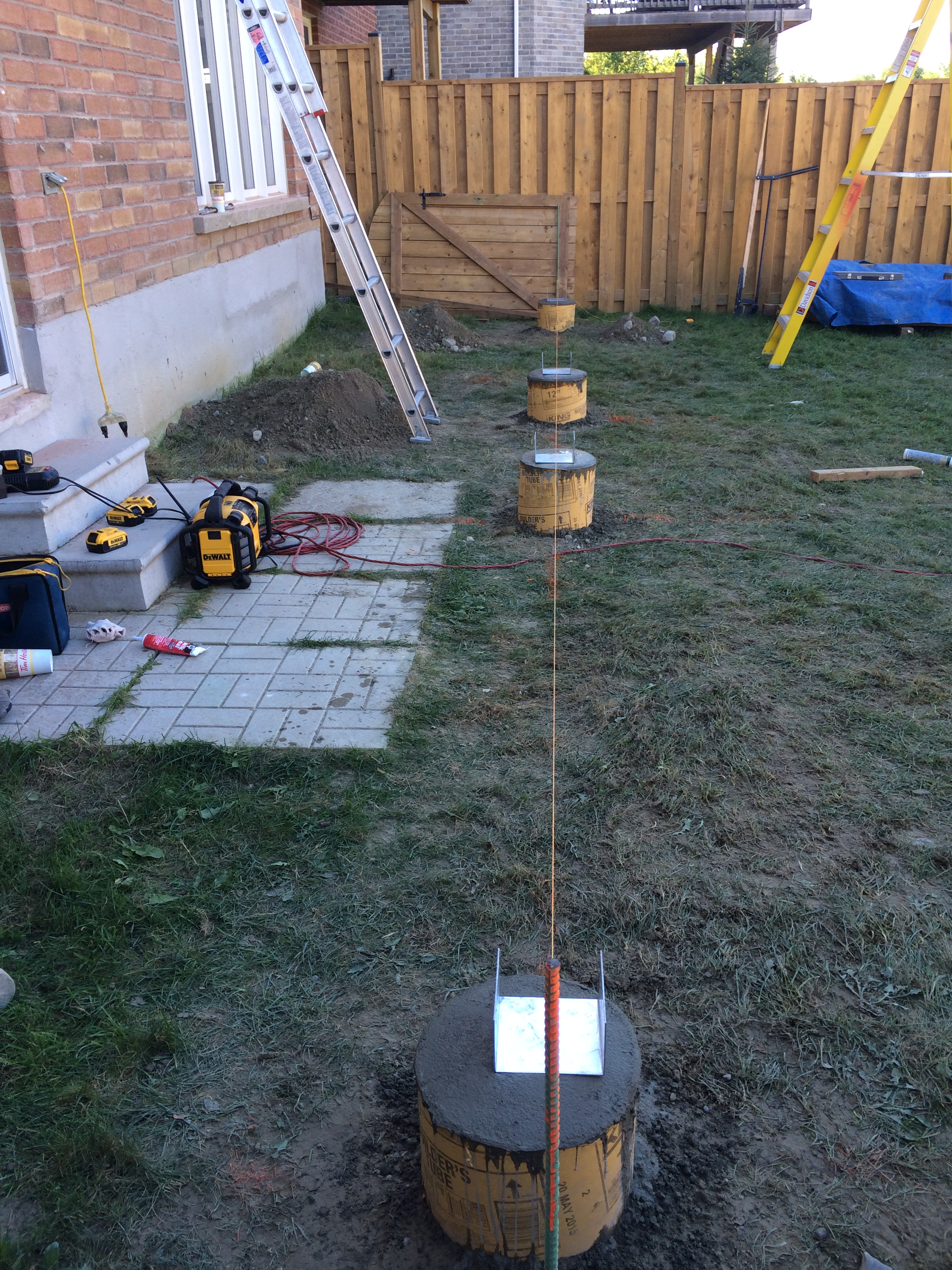 Newmarket Deck During Construction Sonotubes In