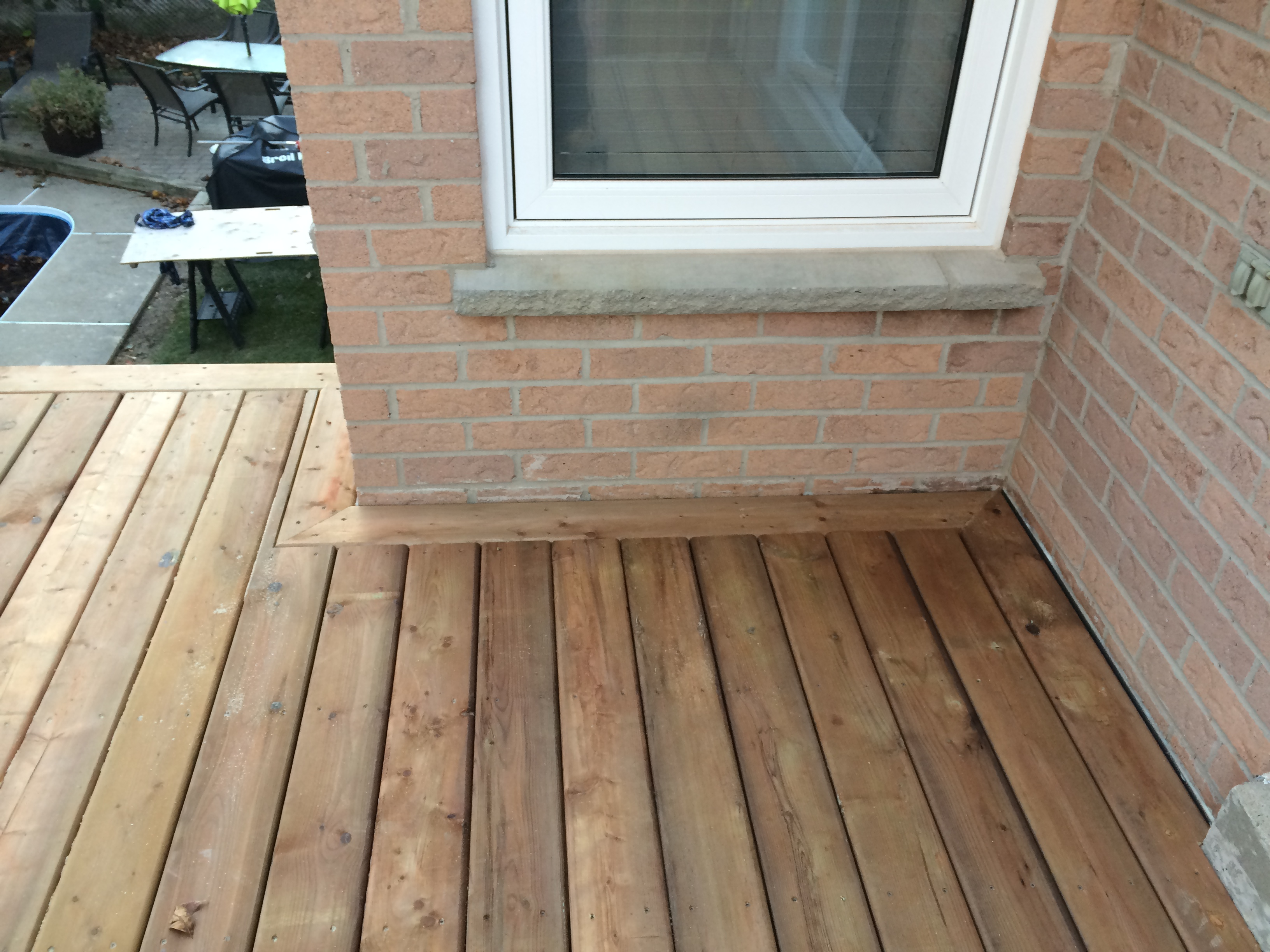 Aurora Deck During Construction Decking Border