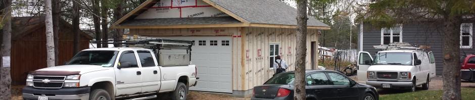 Whitestone Garage - During Construction Front Corner View