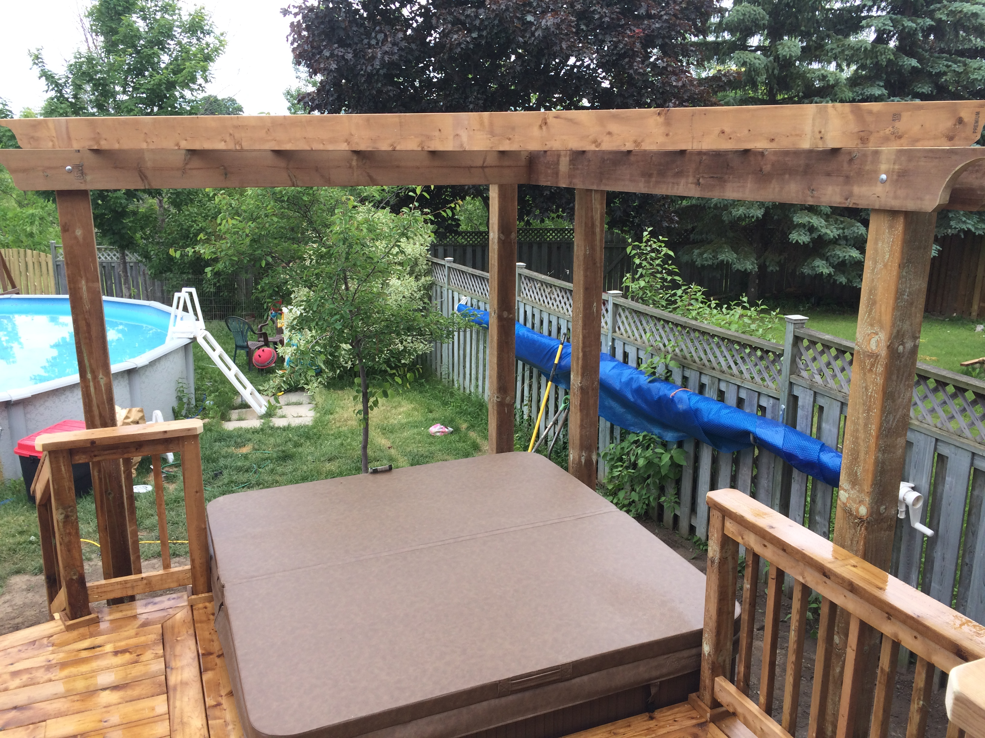 Keswick Deck - After Construction View From Deck Looking Towards Rear and Pergola
