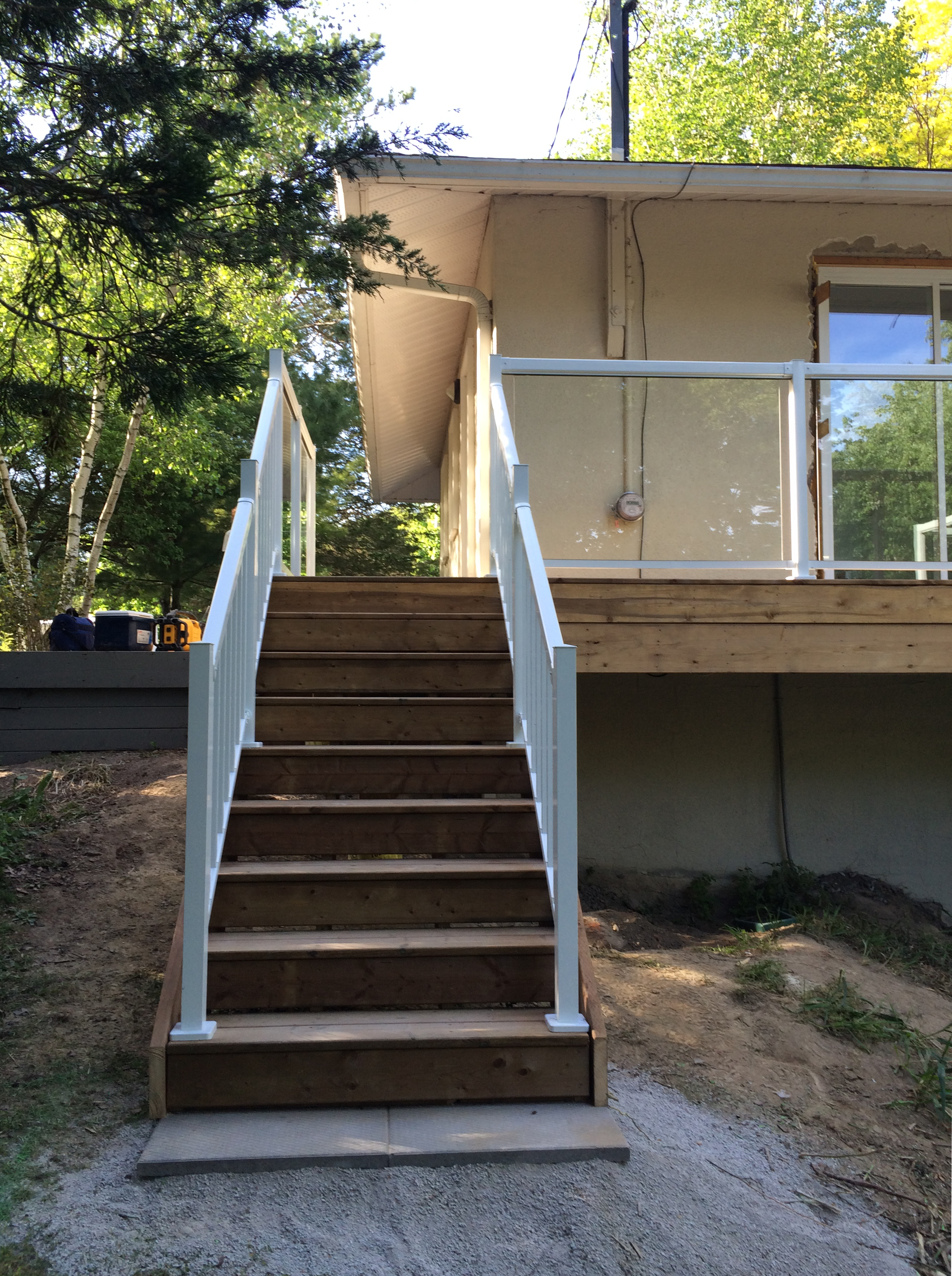 Sutton Deck - After Construction Stairs Front View