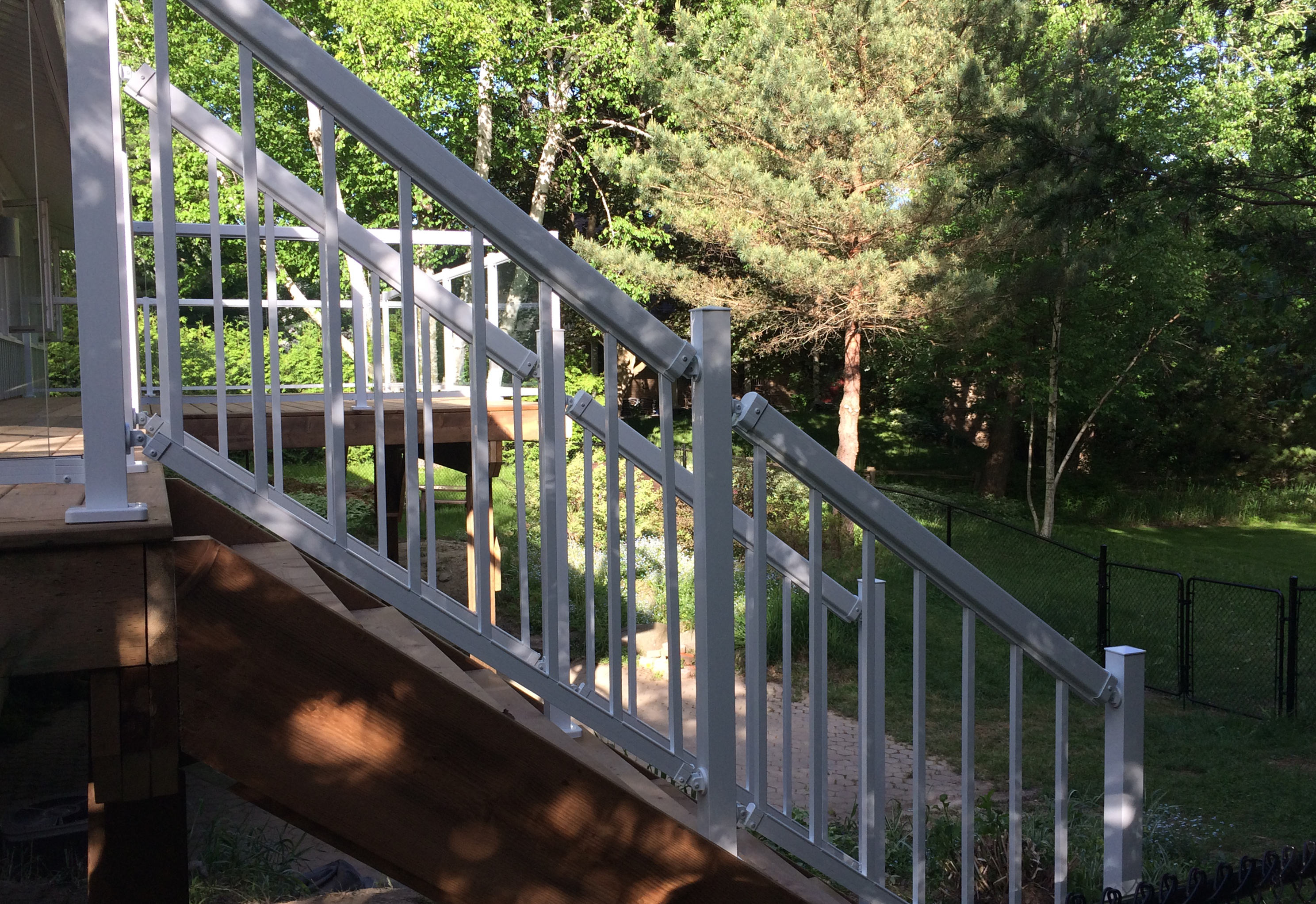 Sutton Deck - After Construction Stairs Side View