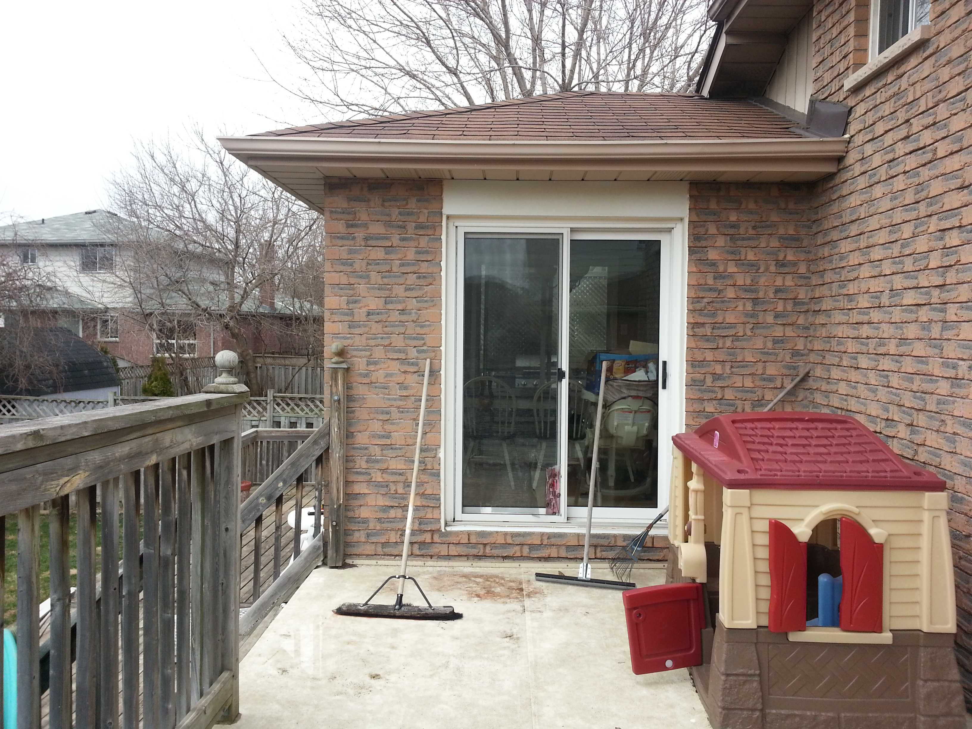 Redcastle Deck - Before Construction Facing Right Patio Door
