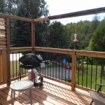 Lively Sunroom Addition Deck View From Door