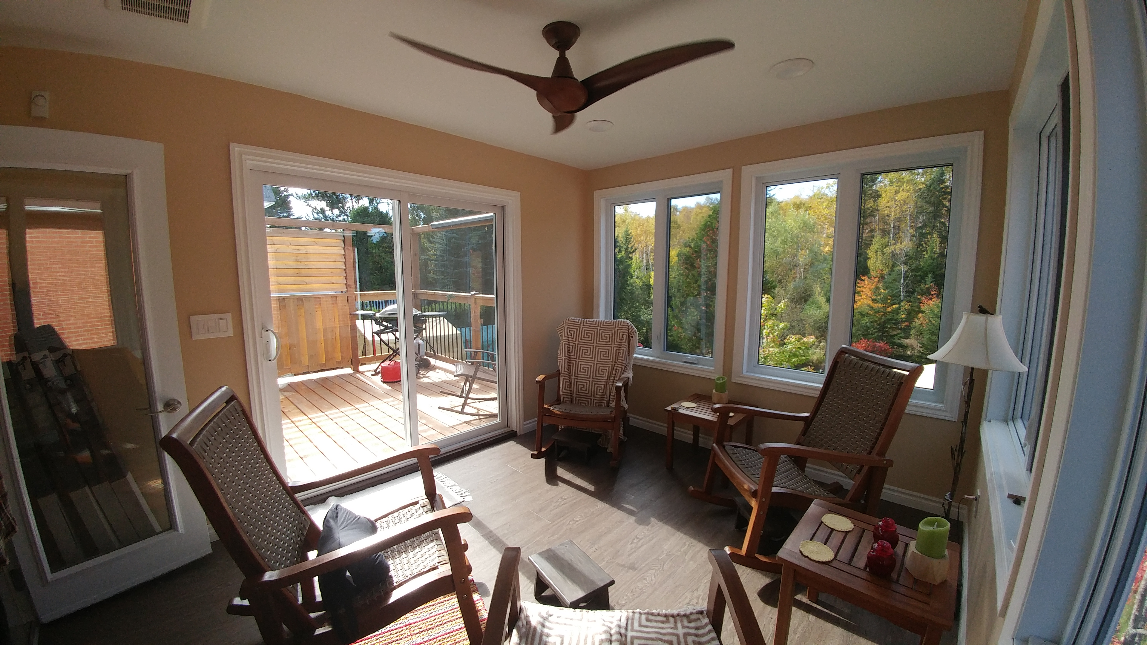 Lively Sunroom Addition Finished View from Corner