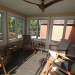 Lively Sunroom Addition Finished View from Deck Door