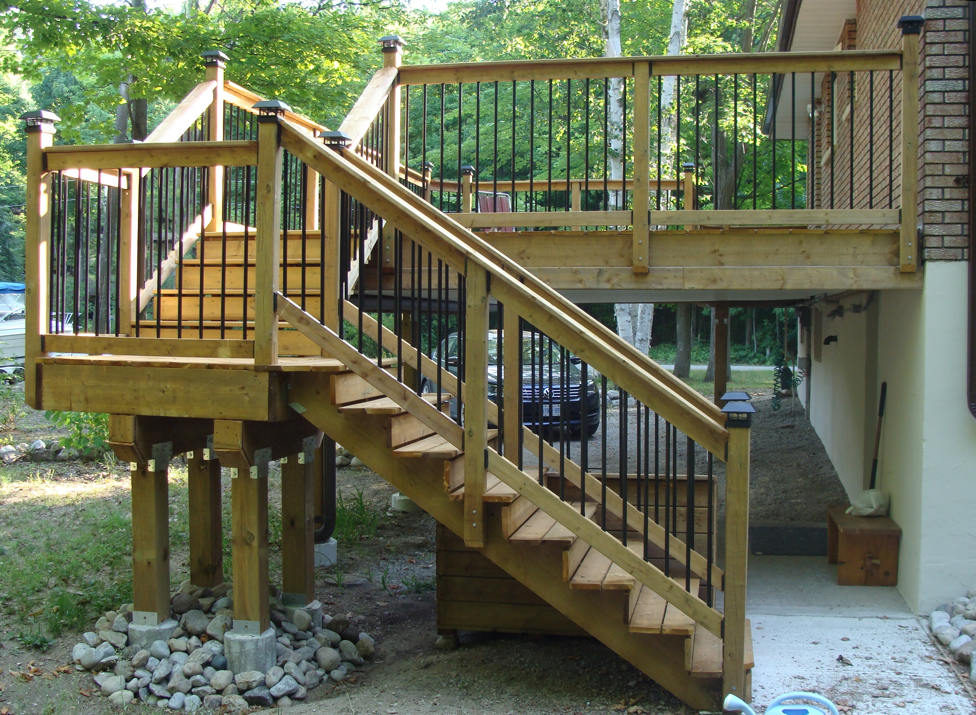 Tiny Deck After Construction Stairs