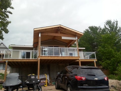 Tiny Covered Deck After Construction