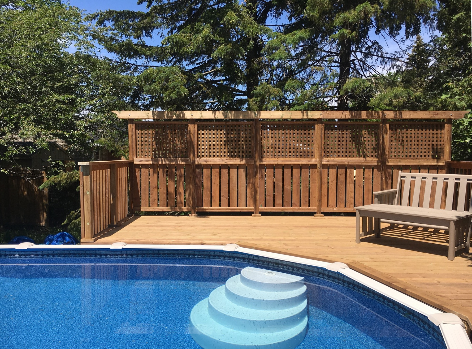 Keswick Pool Deck After Construction Privacy Wall And Pool Edge