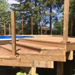 Keswick Pool Deck - During Construction Stairs From Ground