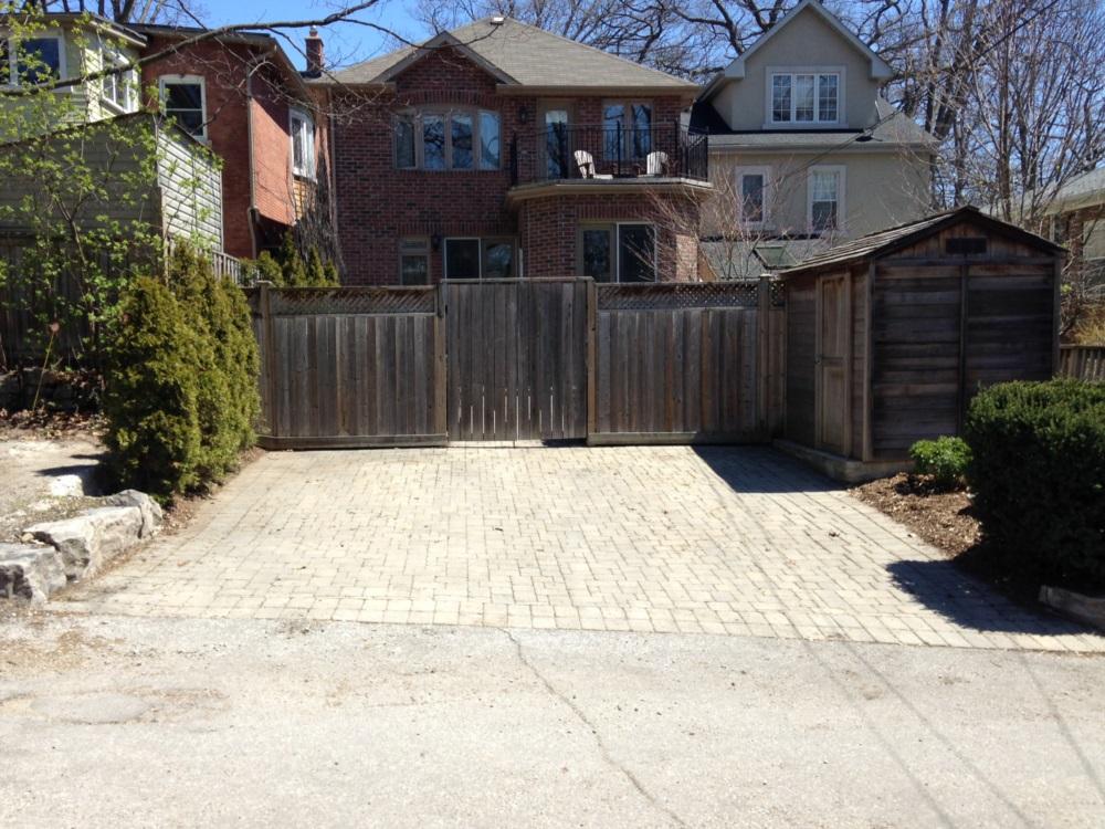 Toronto Upr Beach Laneway Garage Before Construction Lot