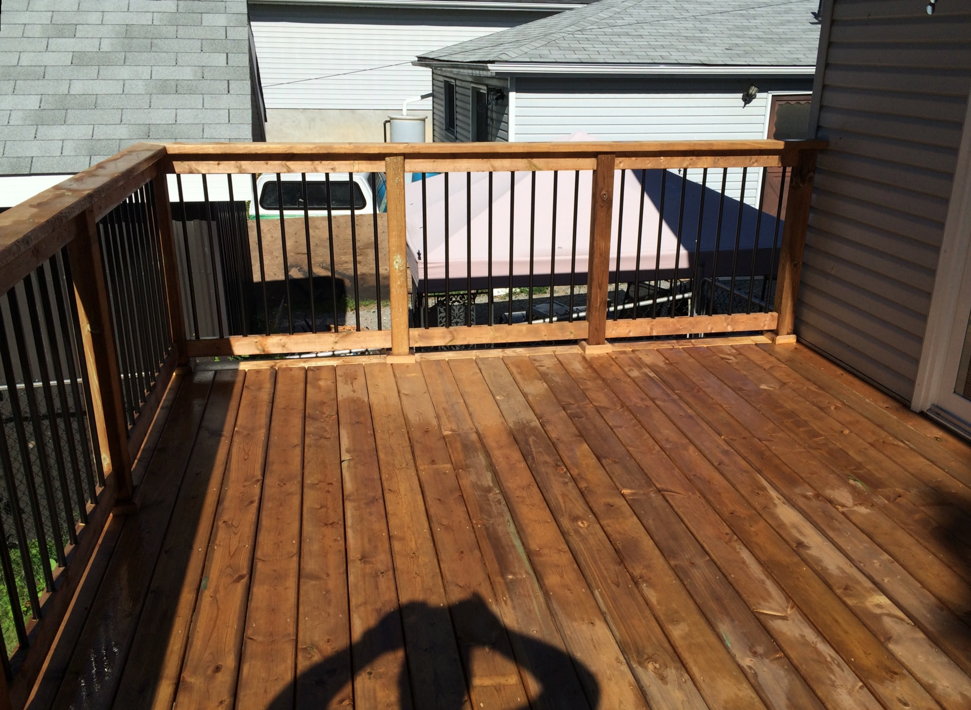 Elm Ave Deck - After Construction View from Deck Looking Right