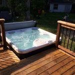 Elm Ave Deck - After Construction View from Deck Looking at Hot Tub