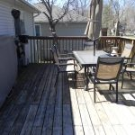 Elm Ave Deck - Before Construction View from Deck Looking Left