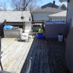 Elm Ave Deck - Before Construction View from Deck Looking Right