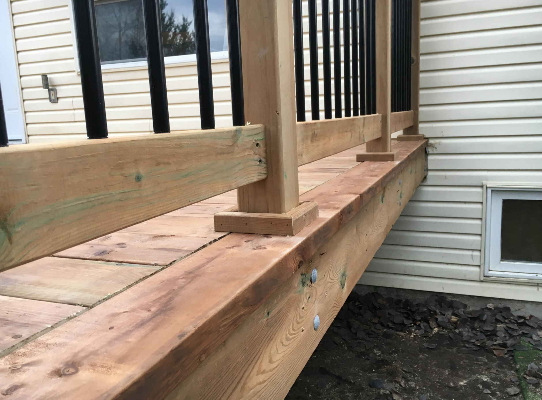 Angus Deck - After Construction Post Base Detail
