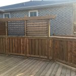 Bradford Deck - After Construction Privacy Wall