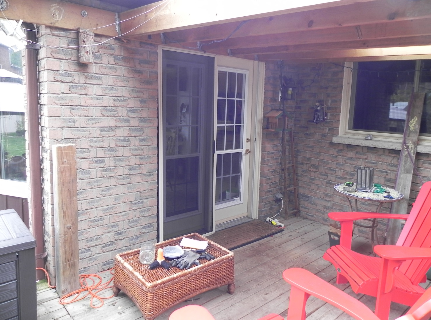 Bradford Deck - Before Construction Front Right View