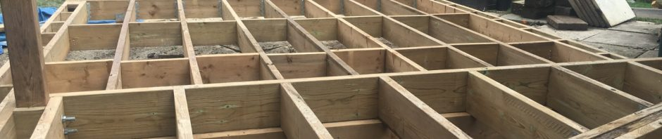 Bradford Deck - During Construction Framing Rear