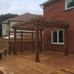 Doon Crescent Deck - After Construction Looking Left (Pergola)