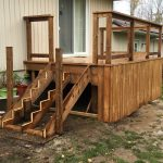 Willow Beach Deck 1 - During Construction - Left Side Corner View